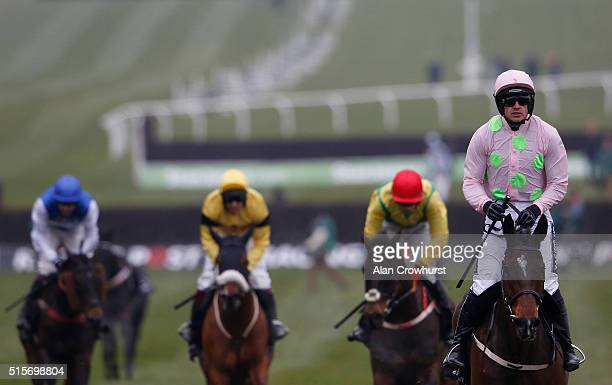 Ruby Walsh riding Douvan win The Racing Post Arkle Challenge Trophy at Cheltenham racecourse on March 15 2016 in Cheltenham England