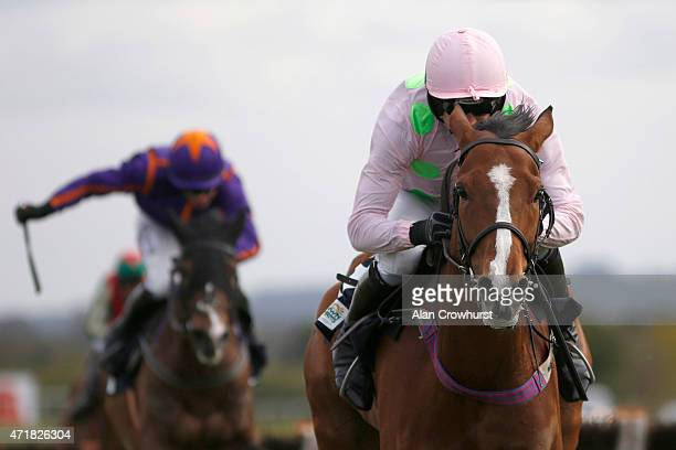 Ruby Walsh riding Faugheen clear the last to win The Queally Group Celebrating 35 Years In Naas Punchestown Champion Hurdle at Punchestown racecourse...