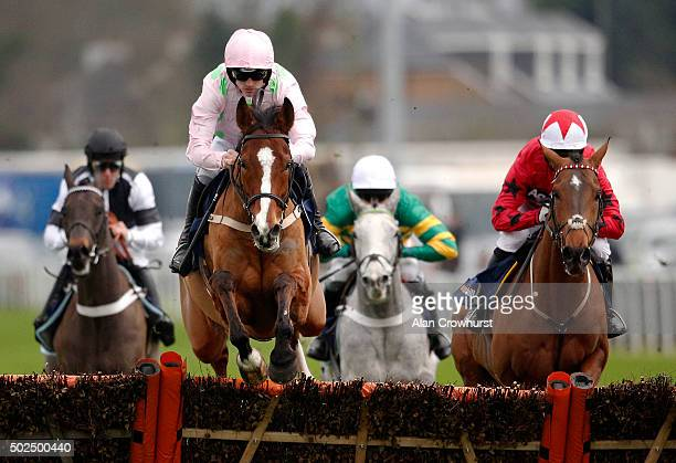 Ruby Walsh riding Faugheen lead all the way to win The williamhillcom Christmas Hurdle Race at Kempton Park racecourse on December 26 2015 in Sunbury...