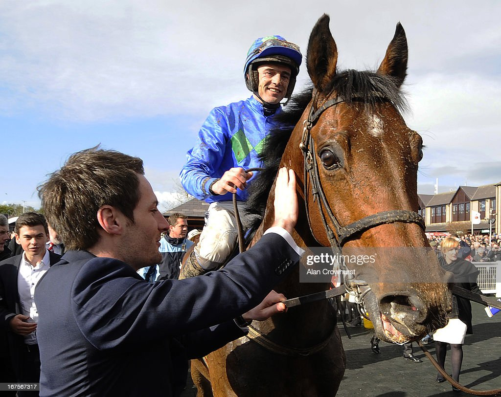 <a gi-track='captionPersonalityLinkClicked' href=/galleries/search?phrase=Ruby+Walsh&family=editorial&specificpeople=171838 ng-click='$event.stopPropagation()'>Ruby Walsh</a> riding Hurricane Fly win The Rabobank Champion Hurdle at Punchestown racecourse on April 26, 2013 in Naas, Ireland.
