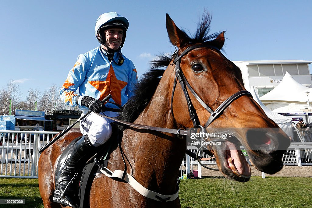 Ruby Walsh riding Un De Sceaux win The Racing Post Arkle Challenge Trophy at Cheltenham racecourse on March 10 2015 in Cheltenham England