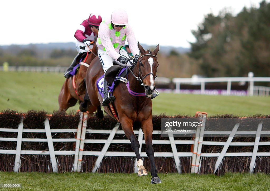 Ruby Walsh riding Vroum Vroum Mag clear the last to win The BETDAQ Punchestown Champion Hurdle at Punchestown racecourse on April 29, 2016 in Naas, Ireland.
