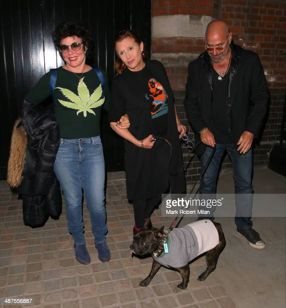 Ruby Wax and Carrie Fisher at the Chiltern Firehouse for a Prada event on April 30 2014 in London England