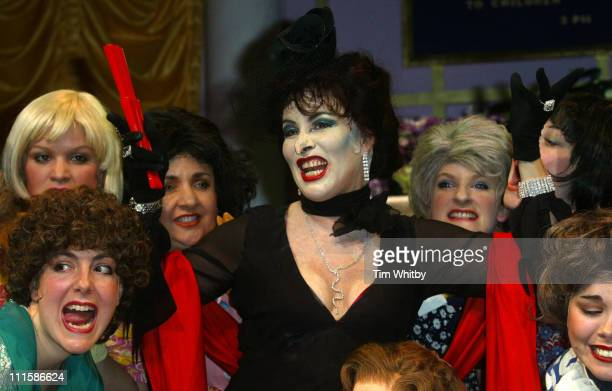 Ruby Wax and ensemble during 'The Witches' Photocall at Wyndhams Theatre in London Great Britain