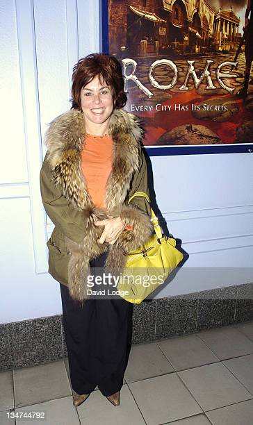 Ruby Wax during HBO's 'Rome' London Premiere at UGC Trocadero in London Great Britain