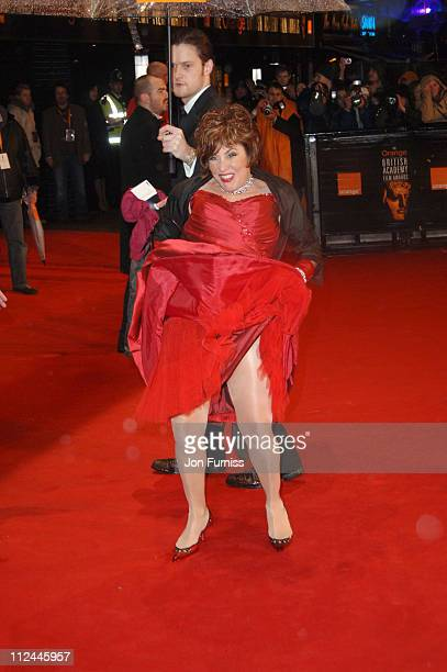 Ruby Wax during The Orange British Academy Film Awards 2006 Outside Arrivals at Odeon Leicester Square in London Great Britain