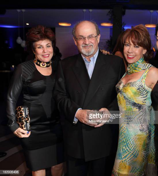 Ruby Wax Salman Rushdie and Kathy Lette attend the launch of Salman Rushdie's new book 'Joseph Anton' on September 14 2012 in London England
