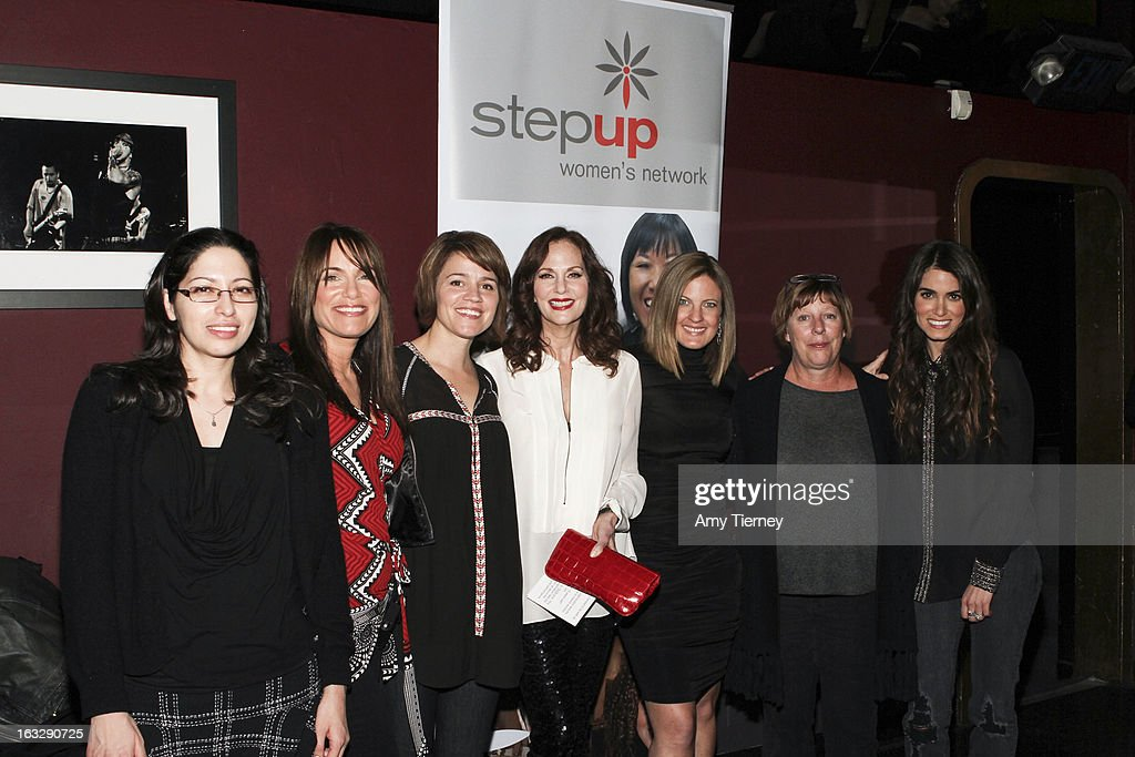 Ruby Zamora, Jeanne Elfant Festa, Anna Belknap, Lesley Ann Warren, Daniella Peters, Karrie Keyes, and Nikki Reed attend the Step Up Women's Network Women Who Rock Event at The Roxy Theatre on March 6, 2013 in West Hollywood, California.