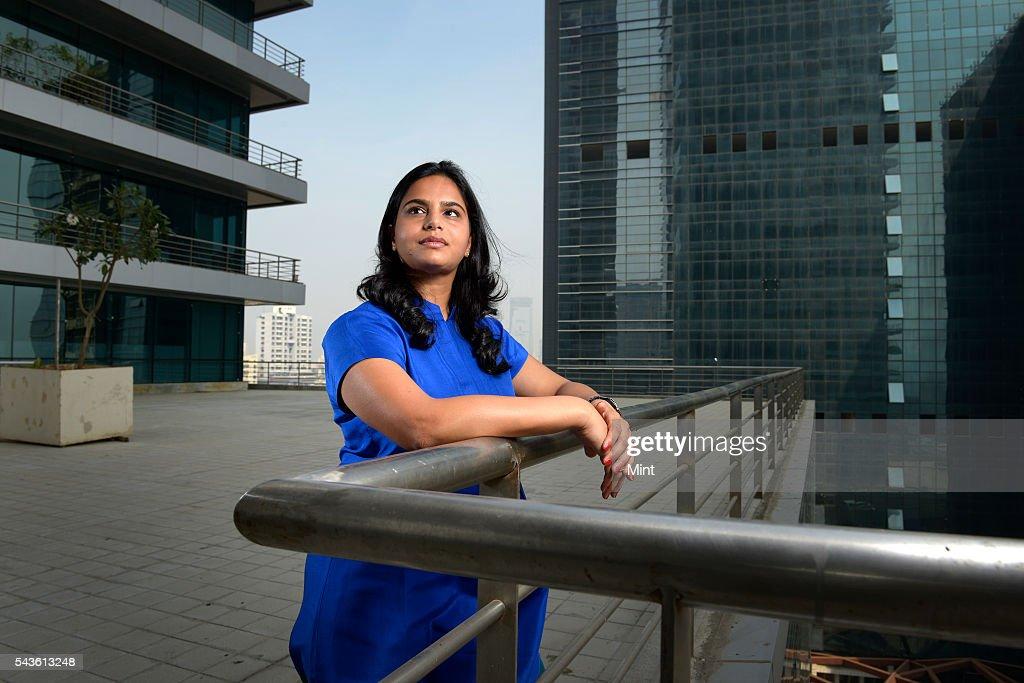 Ruchi Sanghvi, former VP-Operations at Dropbox, poses for a profile shoot on November 27, 2013 Mumbai, India.