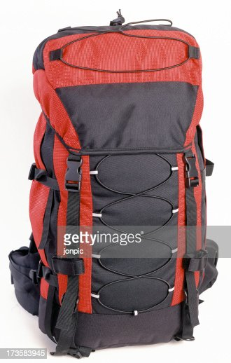 Rucksack with clipping path