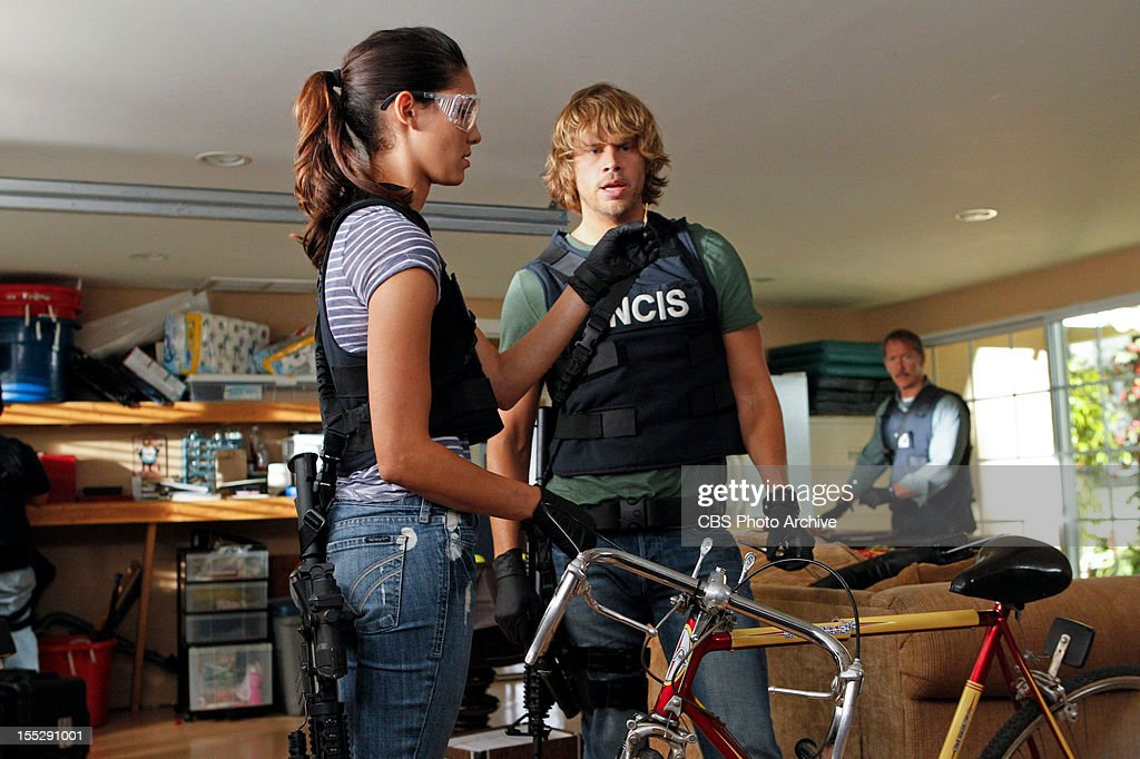 'Rude Awakenings' (Part 2) -- Pictured (L-R): Daniela Ruah (Special Agent Kensi Blye) and Eric Christian Olsen (LAPD Liaison Marty Deeks). The