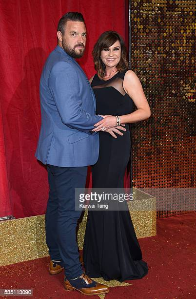 Rudi Coleano and Lucy Pargeter arrive for the British Soap Awards 2016 at the Hackney Town Hall Assembly Rooms on May 28 2016 in London England