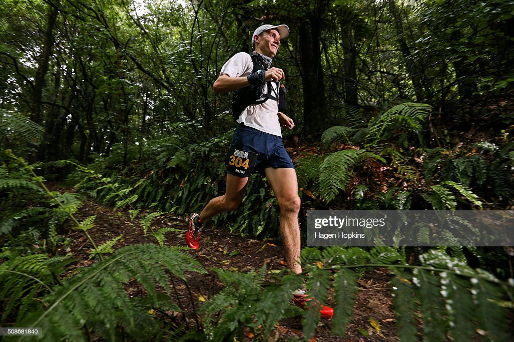 Rudi Smith of New Zealand during the Tarawera Ultramarathon on February 6, 2016 in Rotorua, New Zealand.