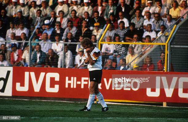 Rudi Völler *1960 German football player UEFA European Football Championship 1992 final_tournament in Sweden group 2 in Norrköping CIS vs Germany 11...