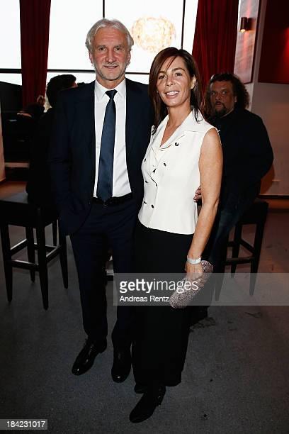 Rudi Voeller and wife Sabrina Voeller attend the Steiger Award 2013 at Dortmunder U on October 12 2013 in Dortmund Germany