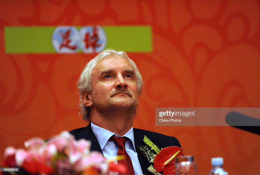 Press Conference Of Bayer Leverkusen Held In Beijing