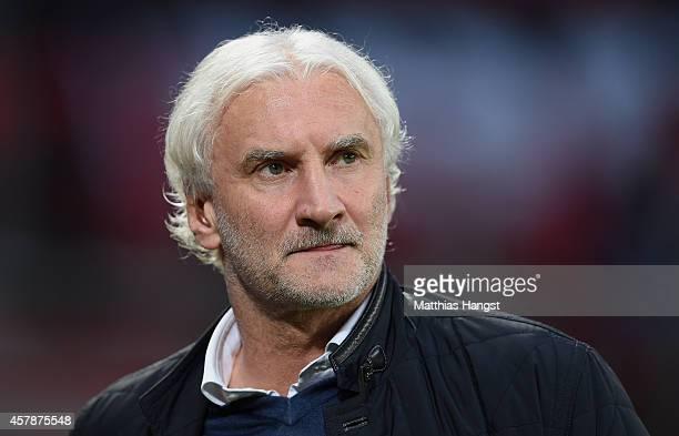 Rudi Voeller sports director of Leverkusen looks on during the Bundesliga match between Bayer 04 Leverkusen and FC Schalke 04 at BayArena on October...