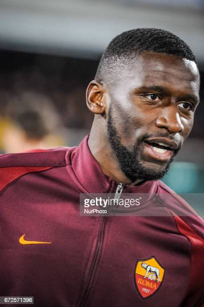 Rudiger Antonio during the Italian Serie A football match Pescara vs Roma on April 24 in Pescara Italy