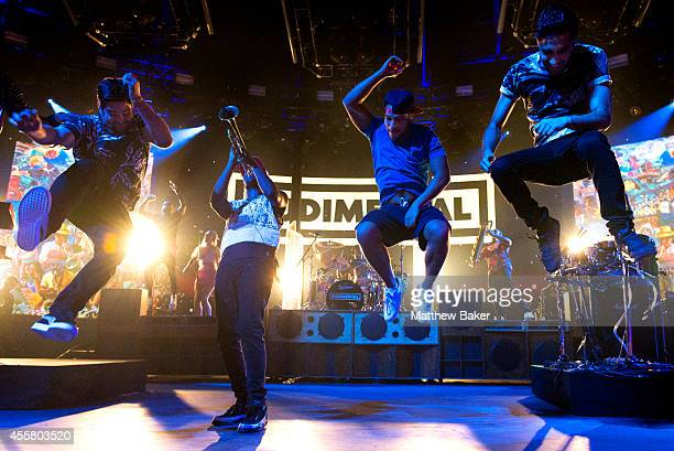 Rudimental perform as part of the iTunes Festival at The Roundhouse on September 20 2014 in London England