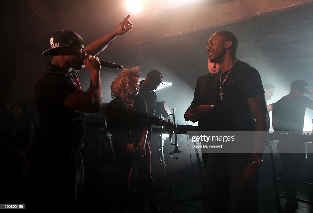 Rudimental perform at the 2nd Anniversary of The Box with Belvedere Vodka on February 6, 2013 in London, England.