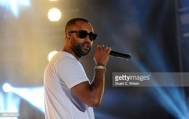 Rudimental perform during 'MTV Crashes' at Plymouth Hoe on July 28 2016 in Plymouth England