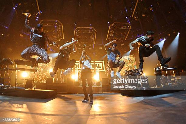 Rudimental performs on stage at the iTunes Festival at The Roundhouse on September 20 2014 in London United Kingdom