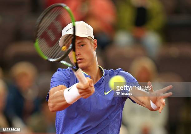 Rudolf Molleker of Germany in action during the International German Open at Rothenbaum on July 25 2017 in Hamburg Germany