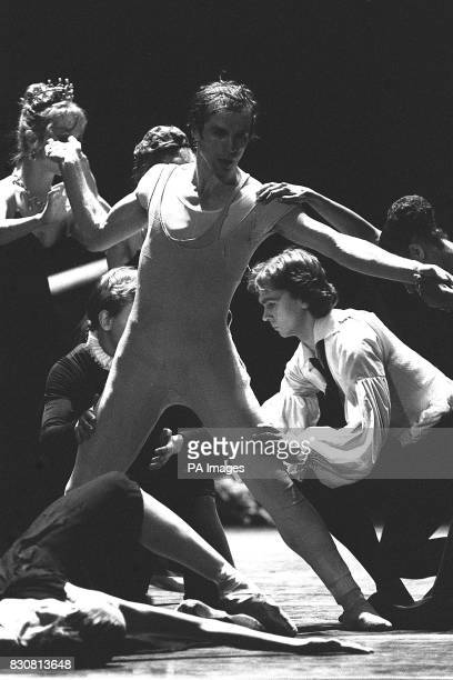 Rudolf Nureyev and members of the Zurich Ballet during rehersals for Manfres which opens at the London Coliseum as the second part of the Nureyev...