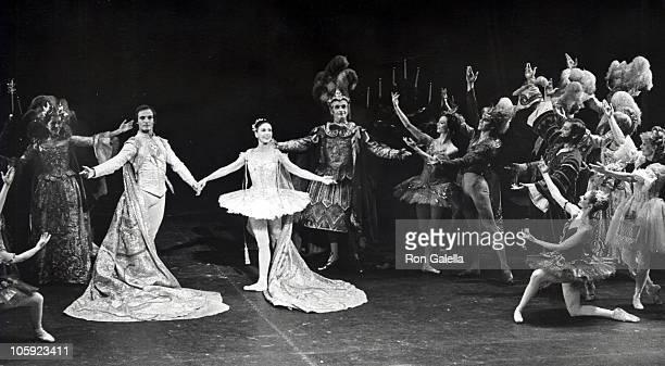 Rudolf Nureyev Margot Fonteyn and dancers during 'The Sleeping Beauty' Gala Benefit Ballet Performance November 11 1973 at City Center in New York...