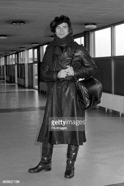 Rudolf Nureyev the ballet dancer was well protected from the winter weather and the fuel shortage when he left London Airport He is seen at Heathrow...