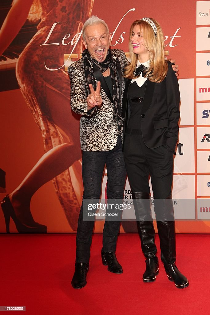 Rudolf Schenker and girlfriend Tatyana Sazonova attend the LEA Live Entertainment Award 2014 at Festhalle Frankfurt on March 11 2014 in Frankfurt am...