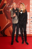 Rudolf Schenker and girlfriend Tatyana Sazonova attend the LEA Live Entertainment Award 2014 at Festhalle Frankfurt on March 11 2014 in Frankfurt am...