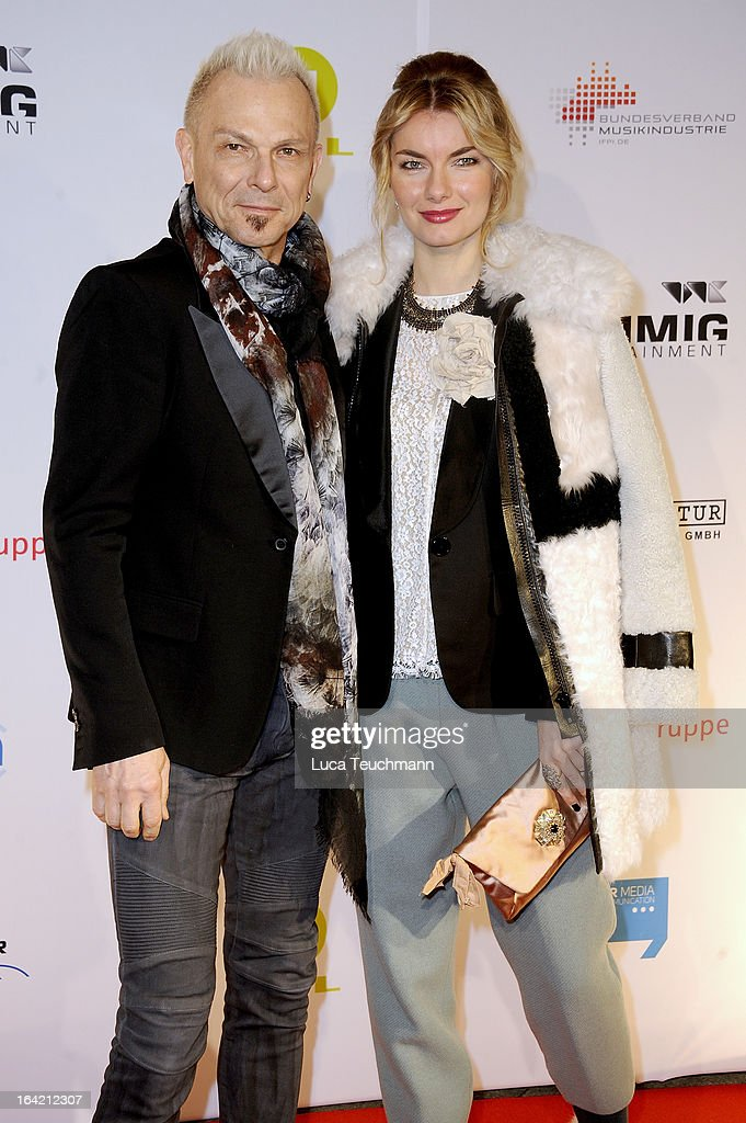 <a gi-track='captionPersonalityLinkClicked' href=/galleries/search?phrase=Rudolf+Schenker&family=editorial&specificpeople=710263 ng-click='$event.stopPropagation()'>Rudolf Schenker</a> (L) attends the 'Musik Hilft' Charity Dinner at the Grill Royal on March 20, 2013 in Berlin, Germany.