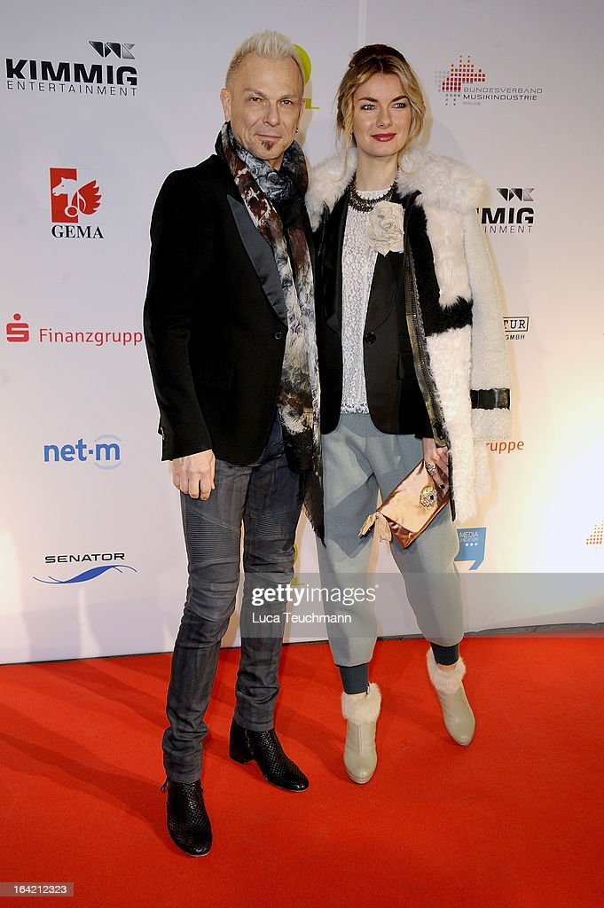 Rudolf Schenker (L) attends the 'Musik Hilft' Charity Dinner at the Grill Royal on March 20, 2013 in Berlin, Germany.