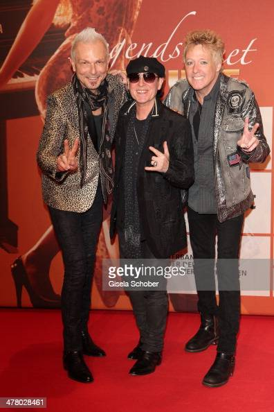 Rudolf Schenker Klaus Meine The Scorpions attends the LEA Live Entertainment Award 2014 at Festhalle Frankfurt on March 11 2014 in Frankfurt am Main...