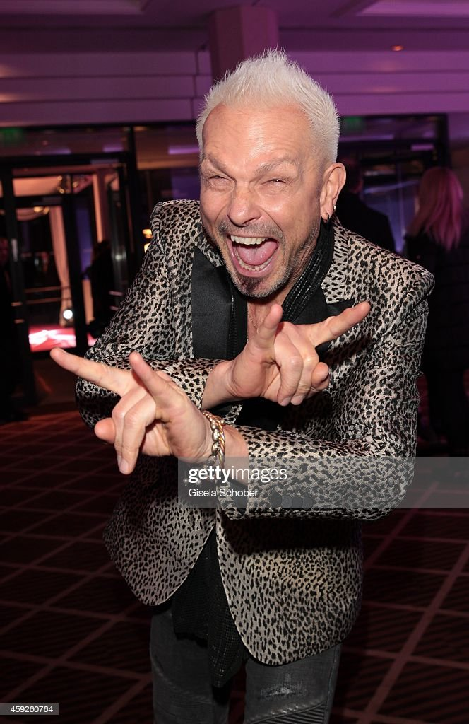 <a gi-track='captionPersonalityLinkClicked' href=/galleries/search?phrase=Rudolf+Schenker&family=editorial&specificpeople=710263 ng-click='$event.stopPropagation()'>Rudolf Schenker</a>, member of scorpions, during the Video Entertainment Award 2014 on November 19, 2014 at Hotel Westin Grand in Munich, Germany.