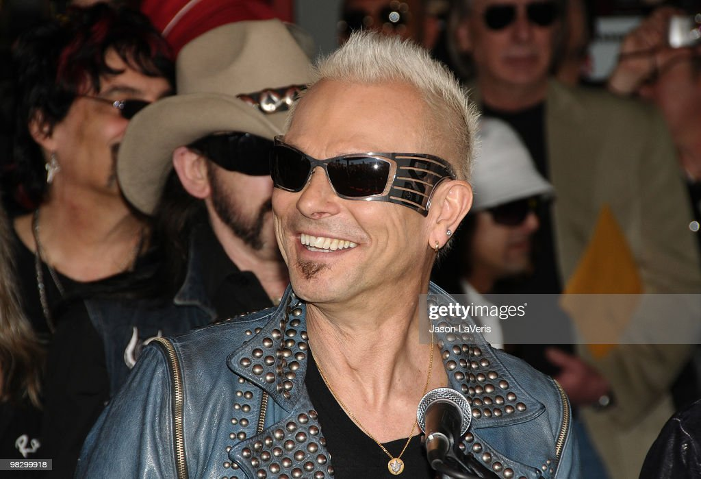 Rudolf Schenker of The Scorpions is inducted into the Hollywood RockWalk on April 6, 2010 in Hollywood, California.