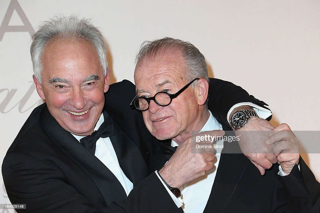 Rudolf Semrad and Rudi Klausnitzer attend the Omega Gala 'La Nuit Enchantee' at Gartenpalais Liechtenstein on March 23, 2013 in Vienna, Austria.