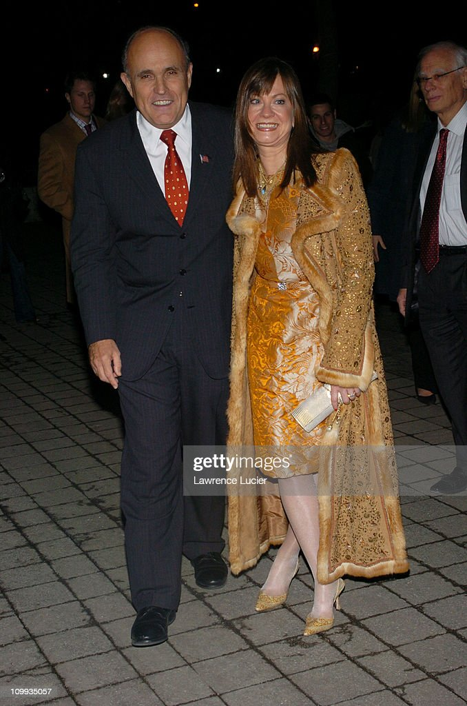 Rudolph Giuliani and Judith Giuliani during Louis Vuitton Celebrates its 150th Anniversary at Lincoln Center in New York City New York United States