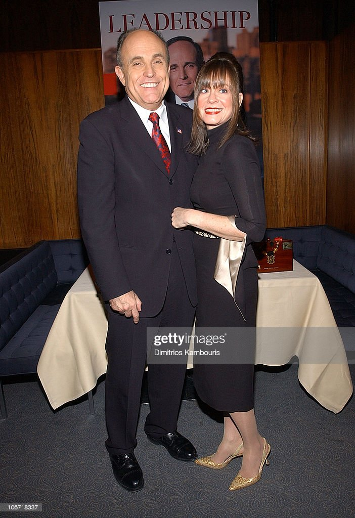 Rudolph Giuliani and Judy Nathan during Harvey Weinstein and Miramax Books Celebrate the Success of Rudolph Giuliani's Literary Debut 'Leadership' at...