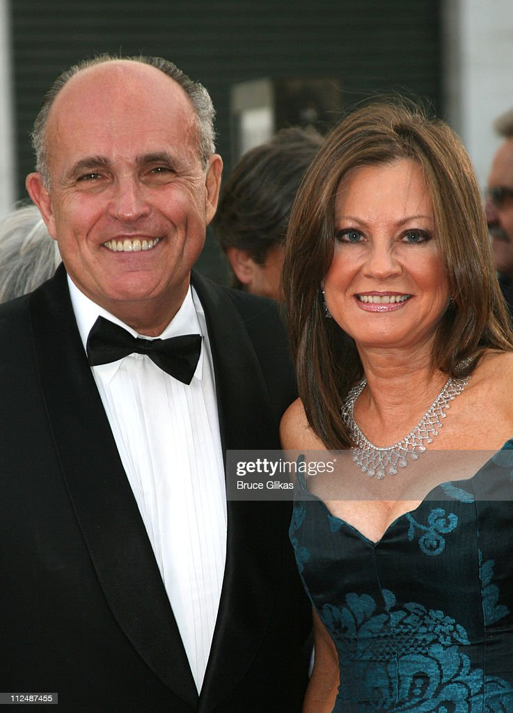 Rudolph Giuliani and Judy Nathan during 'Madama Butterfly' Opening Night Starting the Lincoln Center Metropolitan Opera 20062007 Season at Lincoln...