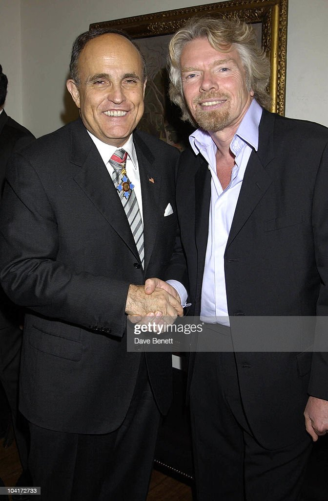 Rudolph Giuliani & Richard Branson, Charity Auction For Signed Photos For Twin Towers Fund, At The Royal Academy Of Arts, Piccadilly, London