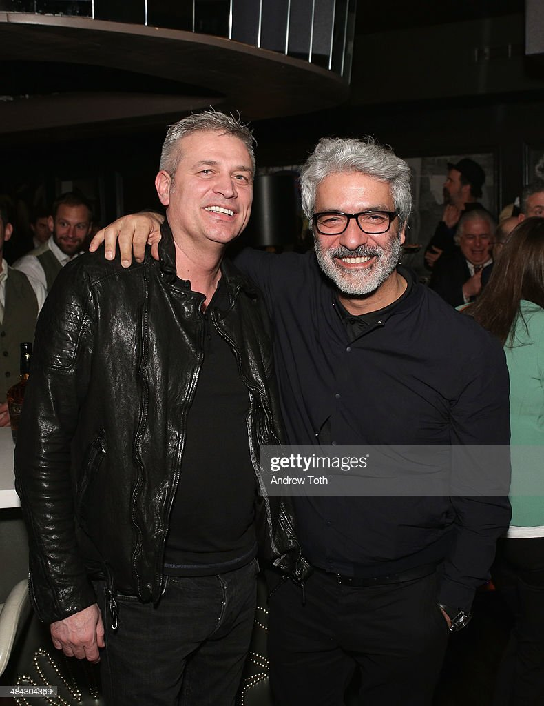 Rudsak Co-founders Donato Coticone (L) and Evik Asatoorian attend the FairVote Benefit hosted by Krist Novoselic and Rock Paper Photo at No.8 on April 11, 2014 in New York City.