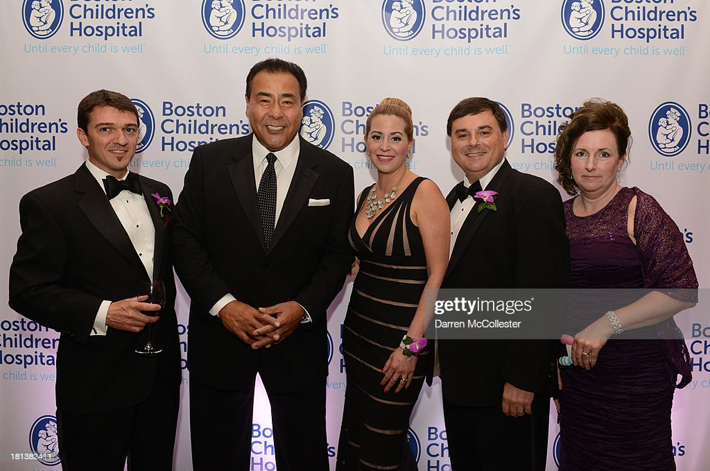 Rudy Bozas, John Quinones, Cristina Bozas, Ivon Gois and Nicole Gois attend the 4th annual Milagros para Ninos Gala benefitting Boston Children's Hospital at The Westin Boston Waterfront on September 20, 2013 in Boston, Massachusetts.