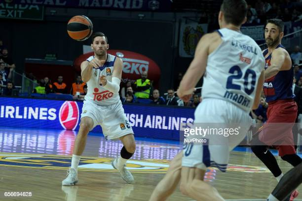 Rudy Fermandez of Real Madrid during the 2016/2017 Turkish Airlines Euroleague Regular Season Round 27 game between Real Madrid v FC Barcelona Lass...
