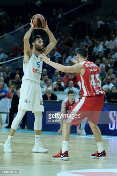 Rudy Fermandez of Real Madrid during the 2017/2018 Turkish Airlines Euroleague Regular Season Round 3 game between Real Madrid v AX Armani Exchange...