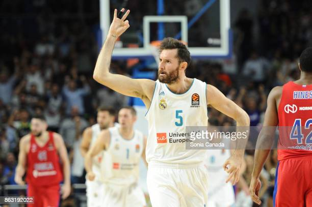 Rudy Fernandez #5 guard of Real Madrid during the 2017/2018 Turkish Airlines Euroleague Regular Season Round 2 game between Real Madrid and CSKA...