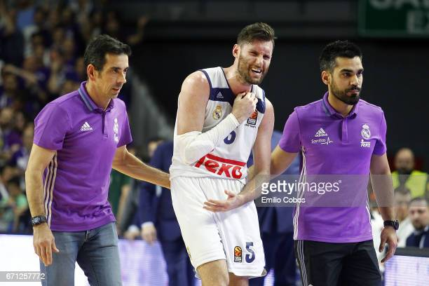 Rudy Fernandez #5 of Real Madrid in action during the 2016/2017 Turkish Airlines EuroLeague Playoffs leg 2 game between Real Madrid v Darussafaka...