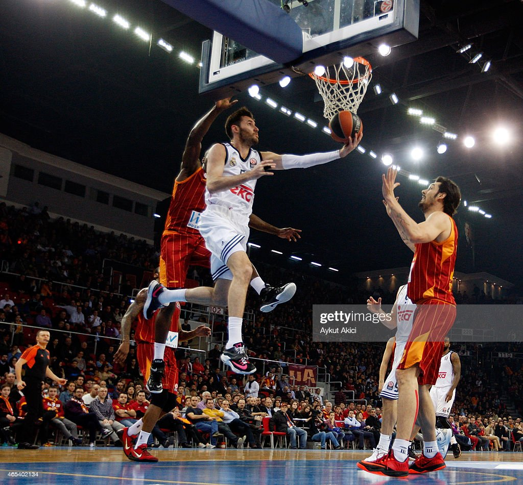 Rudy Fernandez #5 of Real Madrid in action during the Turkish Airlines Euroleague Basketball Top 16 Date 9 game between Galatasaray Liv Hospital...