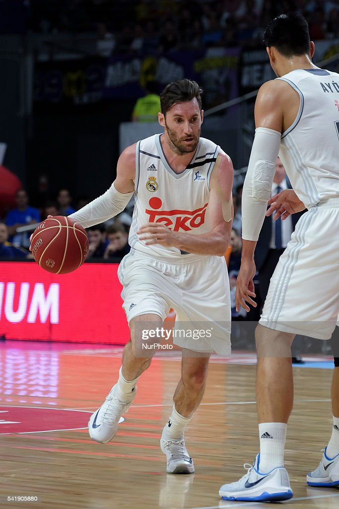 rudy fernndez of Real Madrid in action during the play off round 3 match between FC Barcelona Lassa and Real Madrid at Barclaycard Center in Madrid...